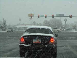 Snow in St. George!