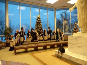 Bell Choir in the Visitors' Center