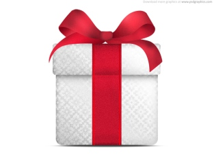 red.bow.white.gift